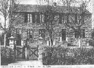 ancienne photo de l'école de 1913