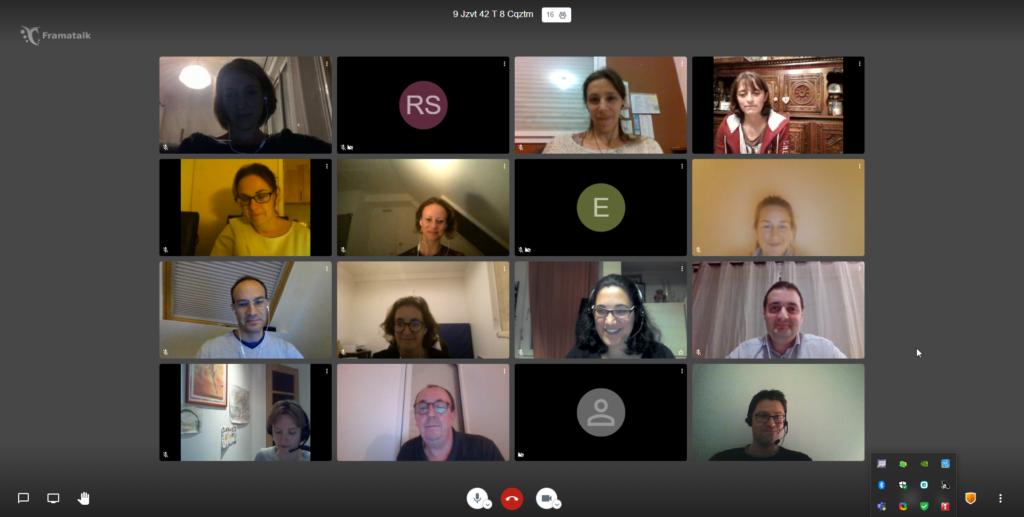 Capture d'écran de la réunion APEL du 09/11/2020 en visio